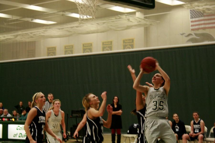 Chaparral+player+%2335+Madeline+Bailie+pulling+a+foul+out+of+a+post+shot+on+Nov.+18.+She+had+24+points+and+10+rebounds+in+this+game.+