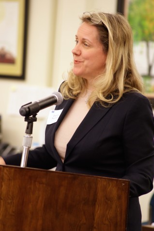 Board candidate Deanne Mazzochi at a March 24 forum.