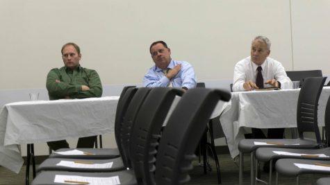 Daniel Injerd talks about Northeastern Illinois' water problems at COD