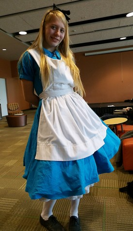 COD Student Katya Pospisil as Alice from Alice in Wonderland