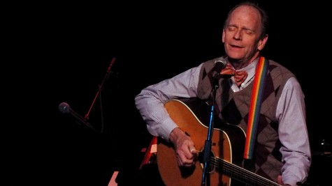 Livingston Taylor playing his guitar to a full crowd on Nov. 14, 2014. He has played at the Playhouse Theatre in the MAC building on both Friday, Nov. 14, and Saturday, Nov. 15.