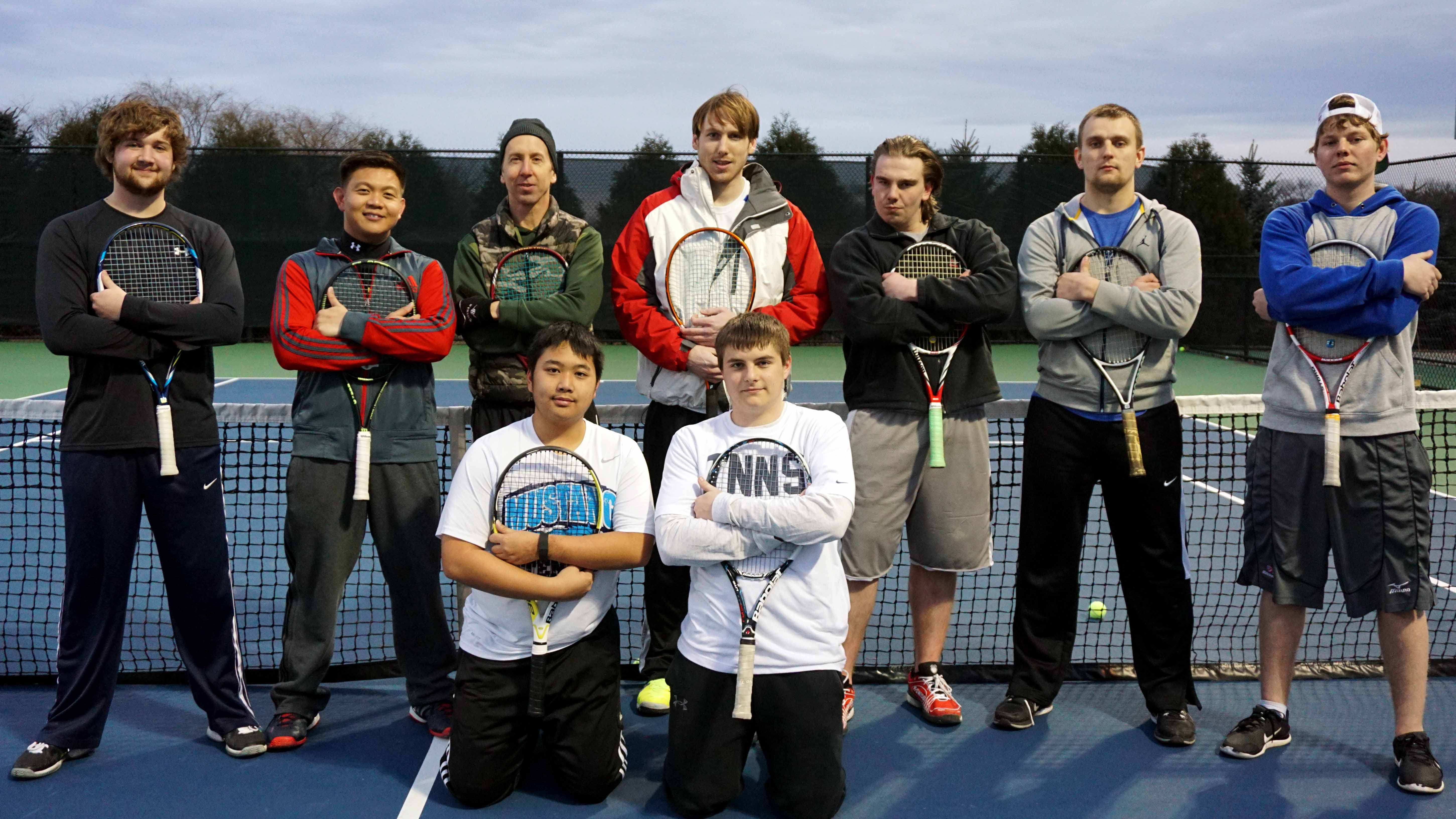 The Chaparral Men's Tennis Team as of March 19.