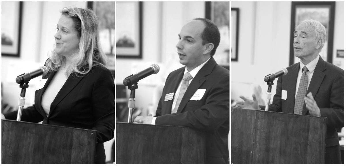 From left to right: Deanne Mazzochi, Frank Napolitano, and Charles Bernstein