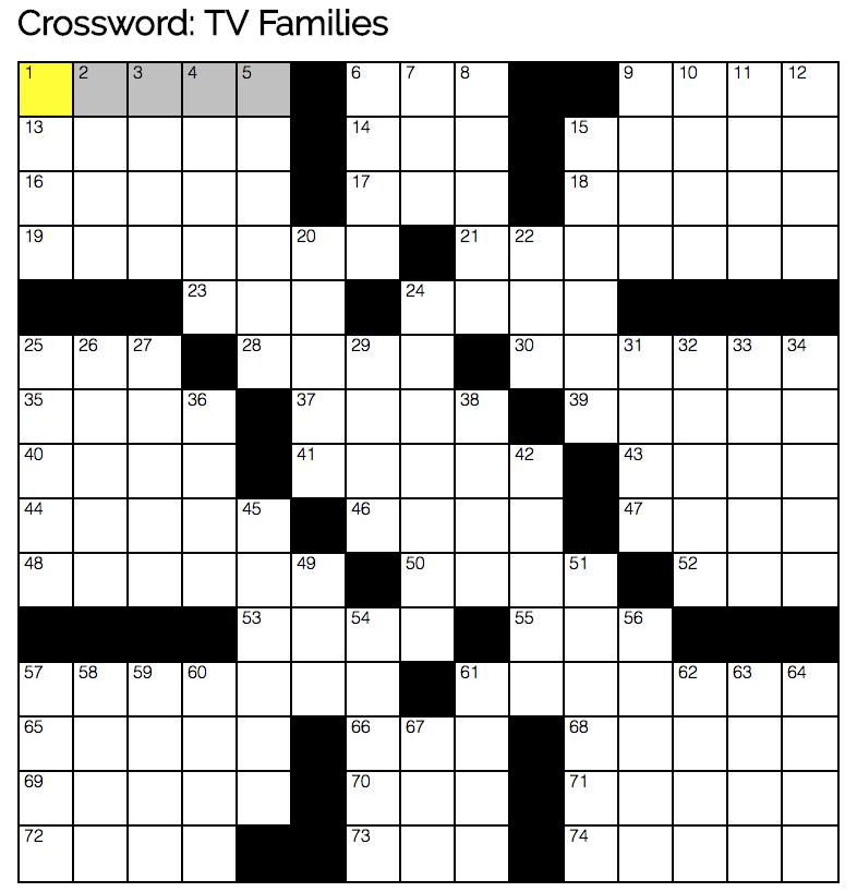 This week's free crossword
