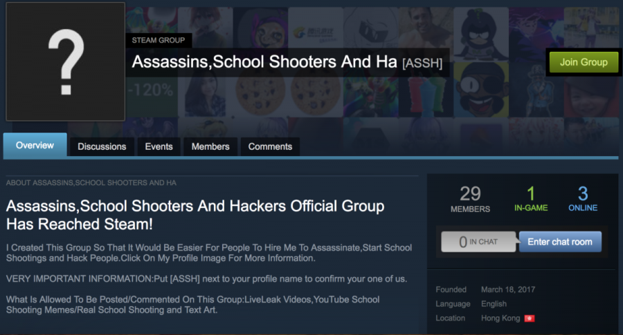 Gaming app has 173 groups that glorify school shooters
