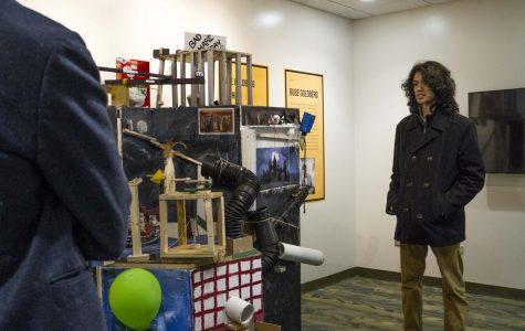 Engineering and Technology Club students build Rube Goldberg Machine