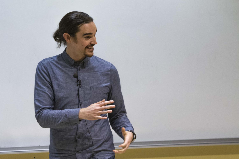 Wes Ketchum discussing neutrinos