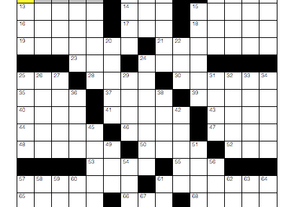 Online crossword for Aug. 22
