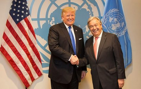 Trump boasts his isolationist policies before an opposing United Nations