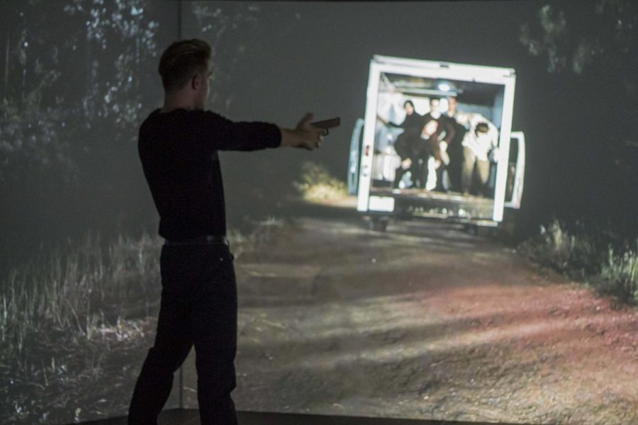 The Suburban Law Enforcement Academy teaches scenario-based training in the VIRTRA simulator