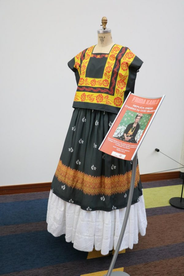 A+replica+of+one+of+Frida+Kahlo%27s+iconic+dresses%2C+made+by+COD+Fashion+Studies+Students.+