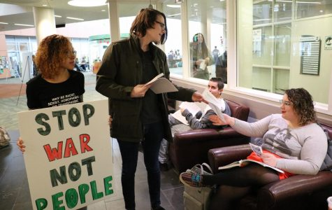 DuPage Students for a Democratic Society protest border wall state of emergency