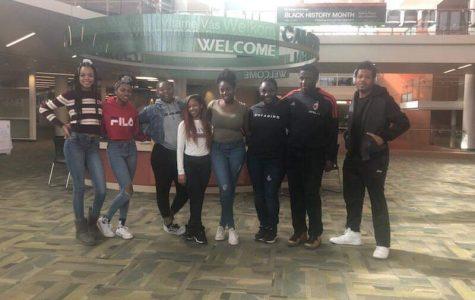 From left to right: Jasmine Riggs, Channan Daniels, Ariel Poston, Taria Murphy, Regente Myers, Djimon Lewis, and Cory Davis