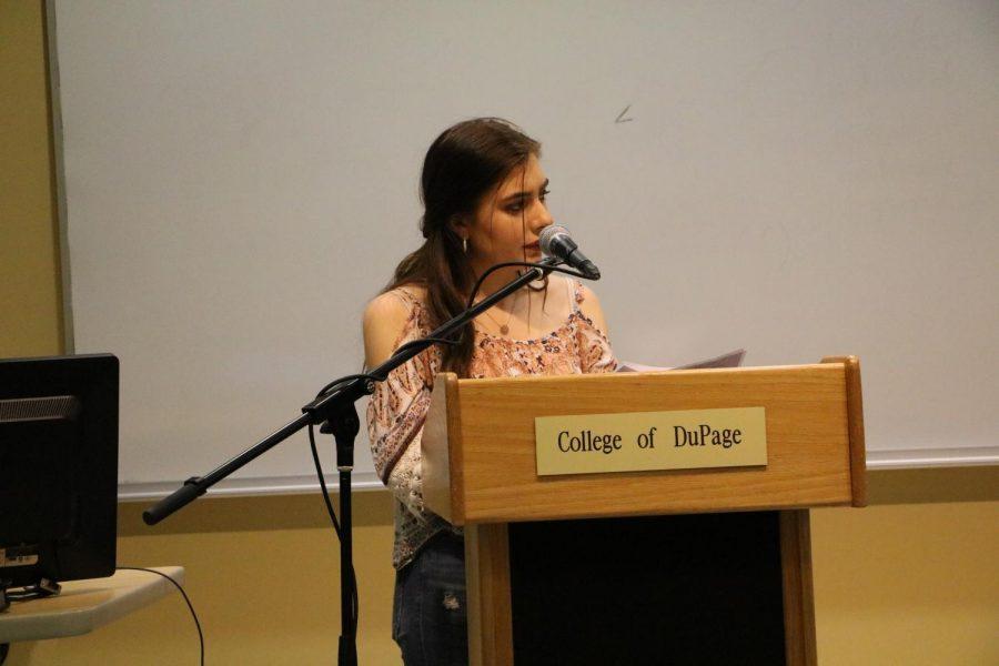 Emily Reiley, the secretary for COD's Girl Up chapter.