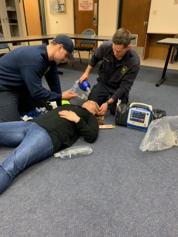 The Hinsdale Fire Department teaching the community vital life-saving training techniques