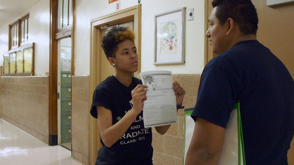 Karoline Jimenez finds  a student to persuade him to take the SAT in the 2019 documentary Personal Statement.