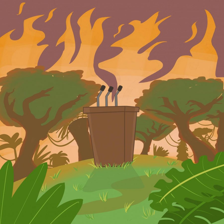 The+increased+burning+and+deforestation+of+the+Amazon+represents+a+global+problem.+With+the+rise+of+populist+rhetoric+hindering+diplomatic+solutions%2C+could+the+flames+represent+a+new+reality+to+a+changing+international+order%3F+%28graphic+by%3A+Jessica+Tapia%29