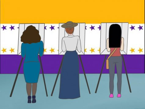 As politicians battle over the adoption of the Equal Rights Amendment, what lessons can we learn from the women who fought for their right to vote 100-years ago and wrote the ERA? (graphic by Jessica Tapia)