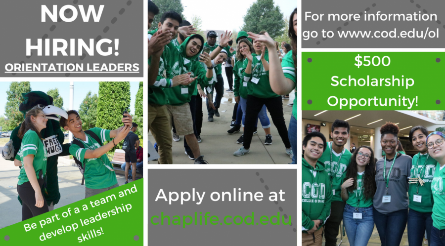 Be an Orientation Leader, get a $500 scholarship!
