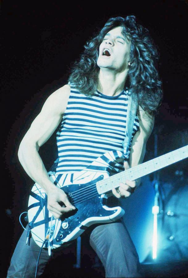 Eddie Van Halen performing at the New Haven Coliseum. Photo by: Carl Lender
